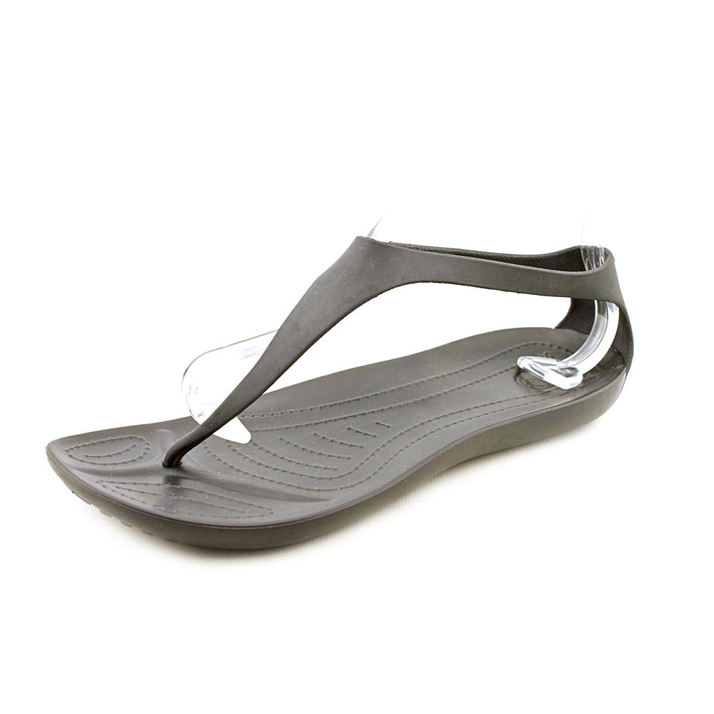 Crocs Sexi Flip Women  Open Toe Synthetic Black Thong Sandal