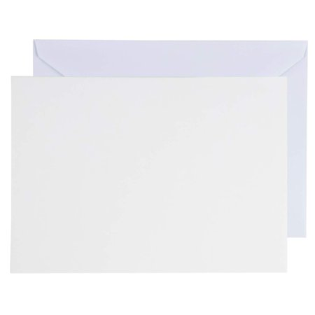 Diy Halloween Greeting Cards (48-Pack Blank Greeting Cards - Plain Cardstock Folded Notecards - Standard Straight Corners, Envelopes Included for DIY, Party Invitation, Birthday, Wedding, 4 x 6 Inches, Laser Printer)