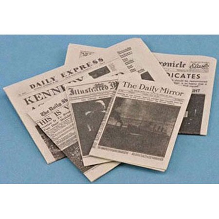 Dollhouse Miniature NEWSPAPER - image 1 de 1