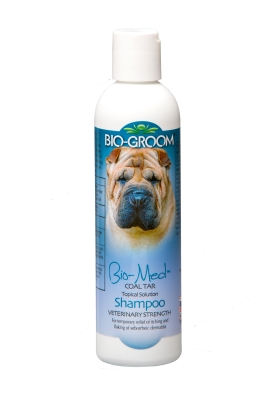 Bio-Groom Bio-Med 21208 Veterinary Strength Coal Tar Topical Solution Dog Shampoo, 8 oz, Medicine Eucalyptus by Bio-Groom