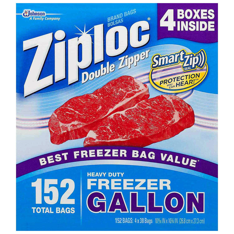 Ziploc Double Zipper Freezer Gallon - 4/38 ct.
