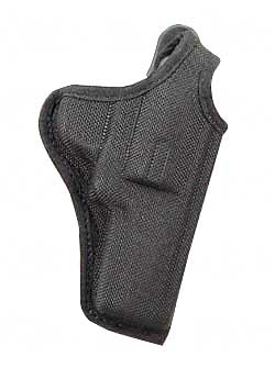 "Bianchi Model #7001 AccuMold Holster, Fits Small Revolver with 2-3"" Barrel, with Thumb-Snap, Right Hand, Black by Bianchi"