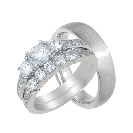 His and Hers Wedding Ring Set Cheap Wedding Bands for Him and Her - Cheap Wedding Accessories
