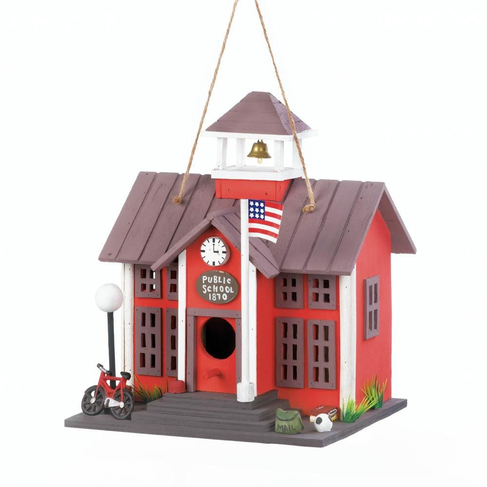 Modern Birdhouse, Distressed Wooden Birdhouse Natural Rustic Cute Decor
