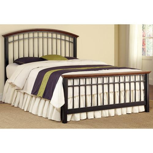 Home Styles Modern Craftsman Queen Bed, Oak/Deep Brown