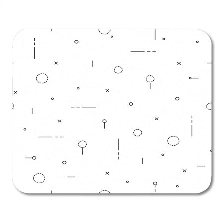 LADDKE Pattern Minimalistic in Thin Minimalist Plus Internet Flat Line Mousepad Mouse Pad Mouse Mat 9x10 inch - Internet Phone Mouse