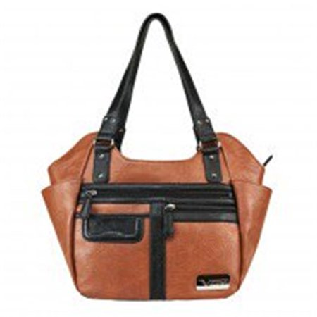 Hobo Bag, Large - Brown With Black
