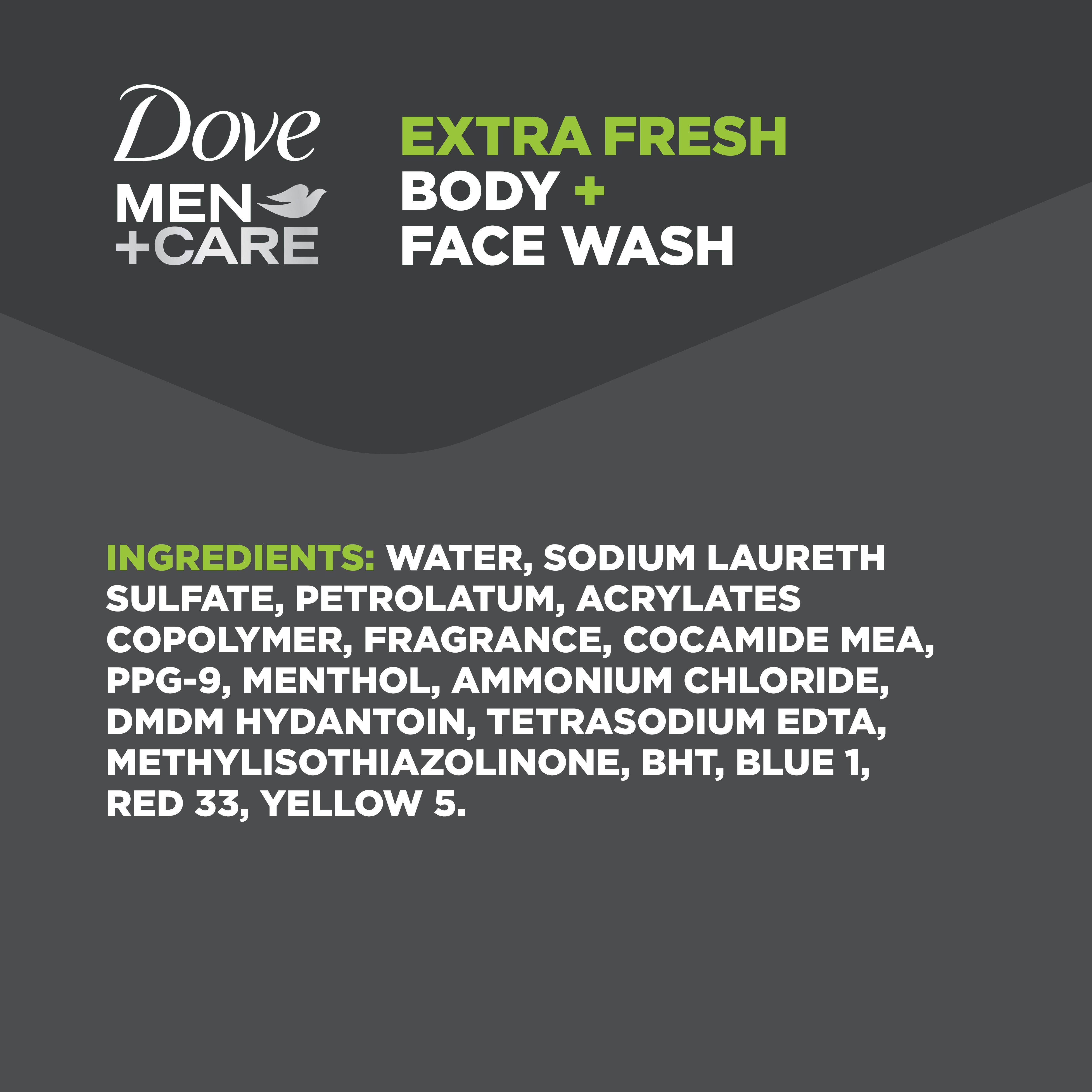 Dove Men Care Body And Face Wash Pump Extra Fresh 23 5 Oz Walmart Com Walmart Com