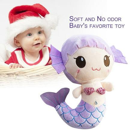 Plush Toys Gift For Baby Kids Girls Children Cute Lovely Mermaid Stuffed Doll Purple - Mermaid Stuff For Kids