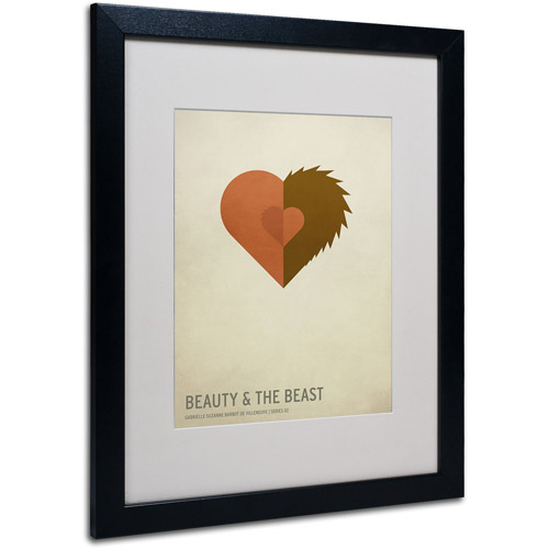 "Trademark Fine Art ""Beauty and the Beast"" by Christian Jackson, Black Frame"