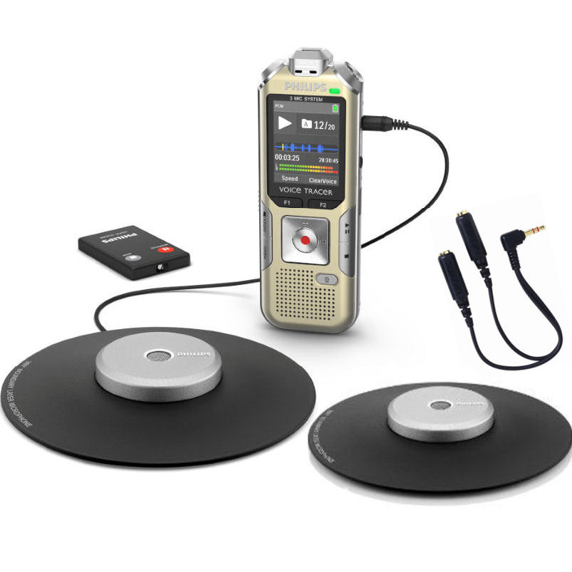 Philips 370218 4GB Digital Stereo Conference Recorder Kit...