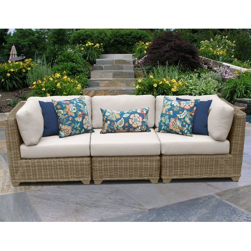 TK Classics Cape Cod Corner Armless Sectional Piece with Cushions