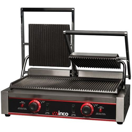 Winco - EPG-2 - 19 in Double Panini Grill