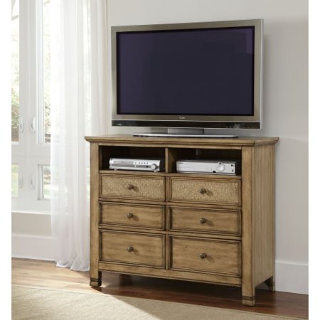 Progressive Furniture Kingston Isle II 6 Drawer Media Chest