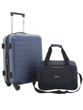 Wrangler 2pc Expandable Rolling Carry-on Set, Navy