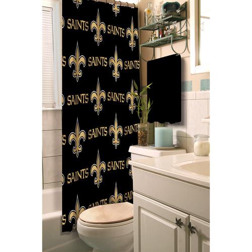 New Orleans Saints Decorative Bath Collection - Shower Curtain