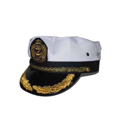 Sailor Yacht Captain Skipper Sea Hat With Scrambled Eggs Costume Accessory