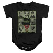 The Munsters Blocks Unisex Baby Snapsuit