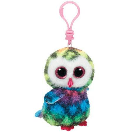 Owen Rainbow Owl Beanie BooClip 5 inch - Stuffed Animal by Ty (35025)](Stuffed Owl)