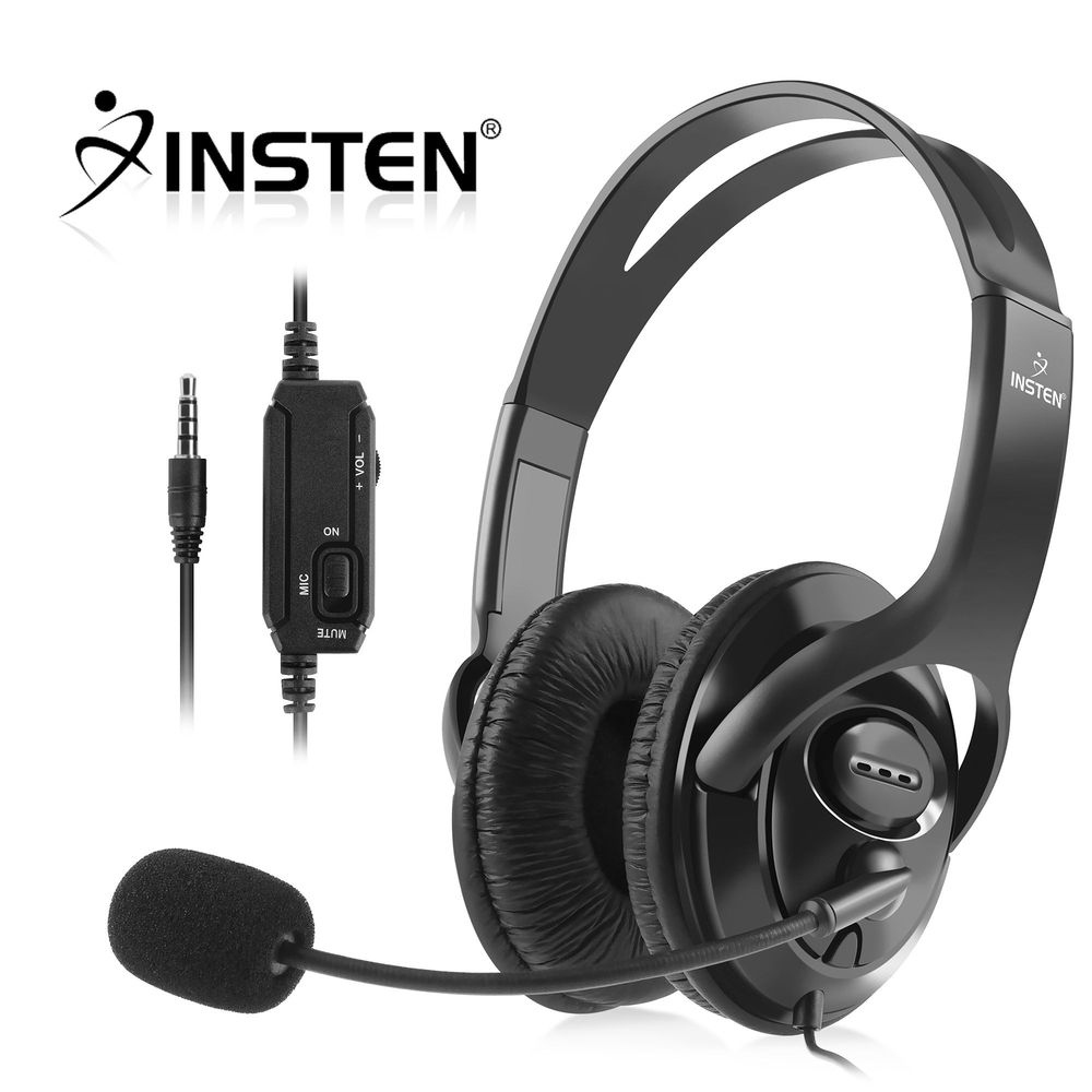 Insten Wired Gaming Headphone Headset with MIC Control for PS4