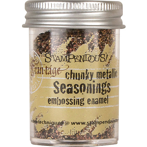 Stampendous Seasonings Embossing Enamel, .63oz, Chunky Metallic