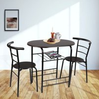 Mainstays 3-Piece Metal Wood Dining Set - Multi Color