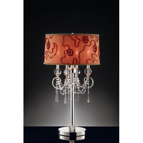 OK Lighting 32.5'' H Table Lamp with Drum Shade