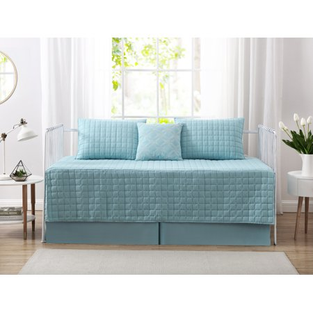 Mainstays Puff Pinsonic Daybed Quilt Set, Teal ()
