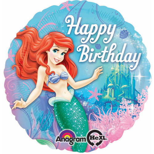 Little Mermaid Sparkle Foil Balloon, 17""