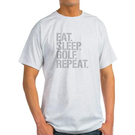 CafePress - Eat Sleep Golf Repeat T-Shirt - Light T-Shirt - CP