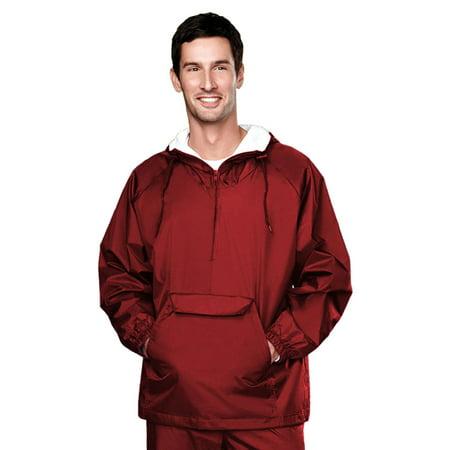 Tri-Mountain Men's Water Resistant Pocket Hooded Jacket (Flame Resistant Hood)