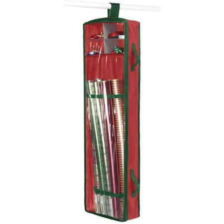 hanging gift wrap organizer redgreen