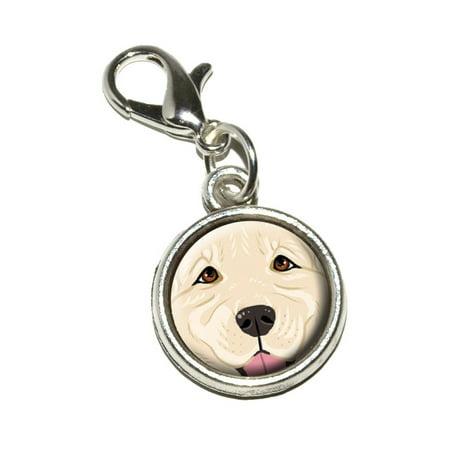 Light White Golden Retriever Face - Pet Dog Bracelet Charm 3d Golden Retriever Charm