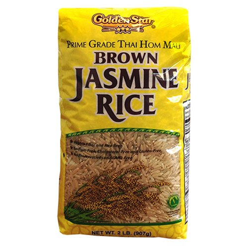 Golden Star Brown Jasmine Rice, 2 lbs by Golden Star Trading Co
