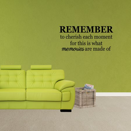 Wall Decal Quote Remember To Cherish Each Moment For This Is What ...