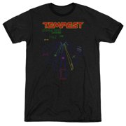 Atari Tempest Screen Mens Adult Heather Ringer Shirt