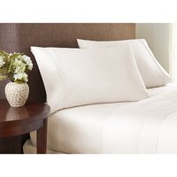 Color Sense 400 Thread Count Cotton Sheet Set Cool & Crisp Queen White