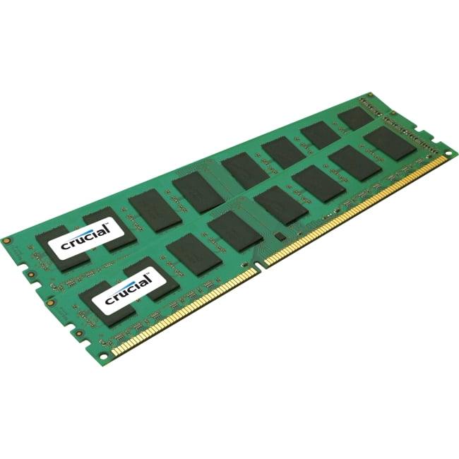 Crucial 32GB DDR3 SDRAM Memory Module - 32 GB (2 x 16 GB) - DDR3 SDRAM - 1333 MHz DDR3-1333/PC3-10600 - 1.35 V - ECC - Registered - 240-pin - DIMM