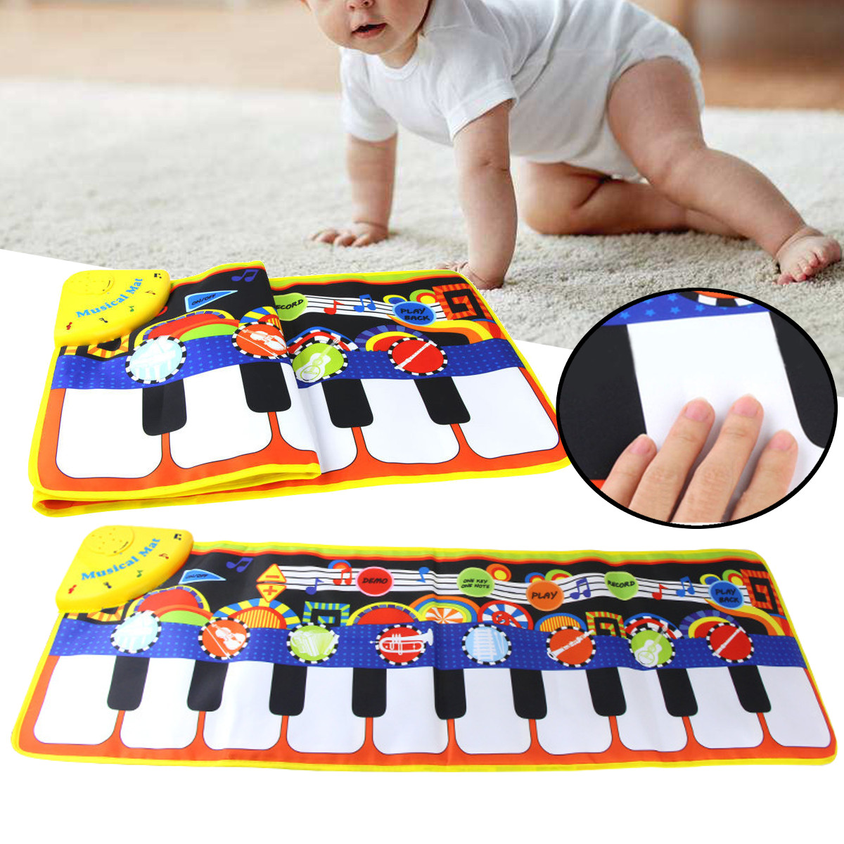 Musical Mat Baby Early Education Music Piano Keyboard Carpet Blanket Touch Play Safety Learn Singing funny Toy for Kids