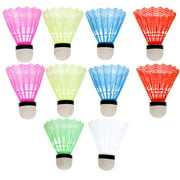 12Pcs Nylon Feather Shuttlecocks Training Plastic Badminton with Great Stability and Durability for Indoor Outdoor Sports