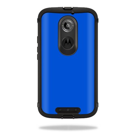 Mightyskins Protective Vinyl Skin Decal Cover for OtterBox Defender Moto X (2nd Gen 2014) Case cover wrap sticker skins Solid Blue