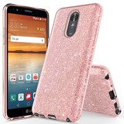 LG Stylo 4 Case, LG Q Stylus Case, LG Stylo 4 Plus Case, Glitter Bling Sparkle Ultra Slim Shockproof Case - Rose Gold