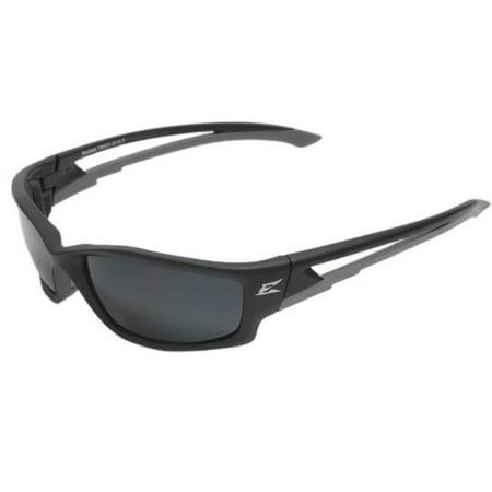 Edge Eyewear Kazbek Polarized Black Silver G15 Lens, TSK21G157