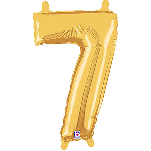 Number 7 Gold Megaloon Junior Balloon