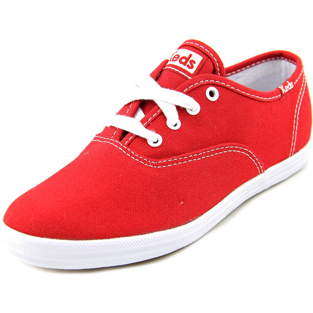 Keds Original Champion CVO Youth Round Toe Canvas Red Fashion Sneakers
