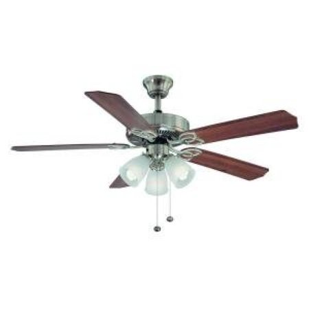 Hampton bay brookhurst 52 inch ceiling fan with light kit in brushed hampton bay brookhurst 52 inch ceiling fan with light kit in brushed nickel finish aloadofball Choice Image
