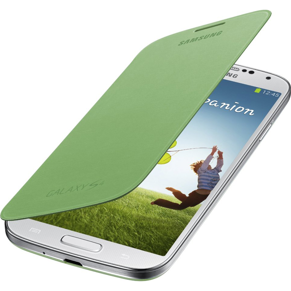 OEM Samsung Flip Cover for Samsung Galaxy S4 (White)
