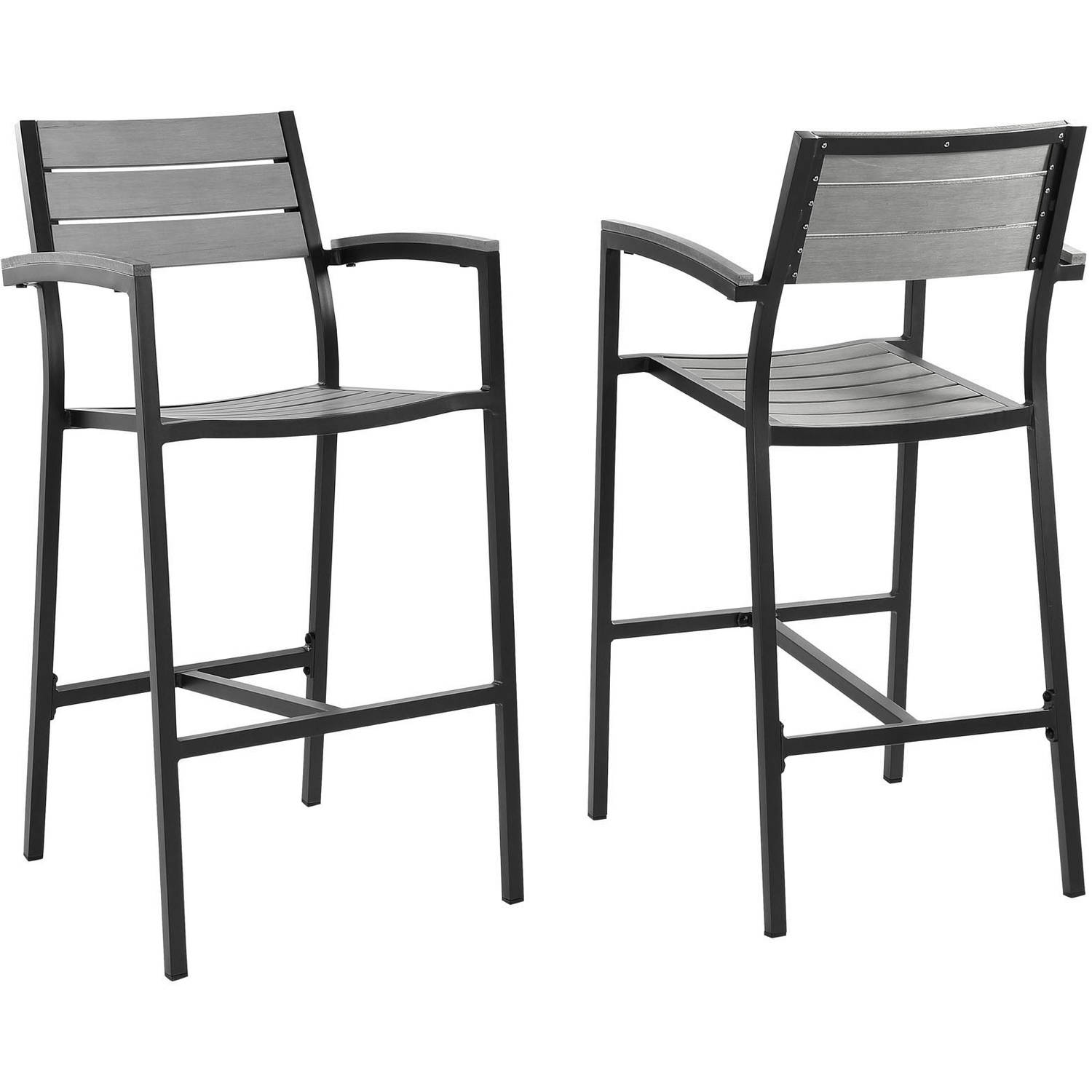 Modway Maine Bar Stool Outdoor Patio, Set of 2, Multiple Colors