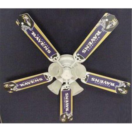 Ceiling Fan Designers 52FAN-NFL-BAL NFL Baltimore Ravens Football Ceiling Fan 52 In. for $<!---->