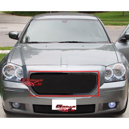 Compatible with 2005-2007 Dodge Magnum Black Mesh Grille Insert D75315H
